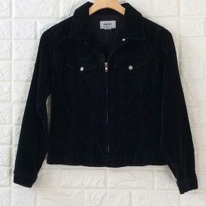 Vtg Soho Jeans velveteen zip up collar jacket